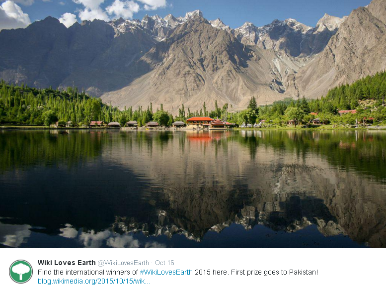 Pakistani photo wins first place in Wiki Loves Earth contest 2015